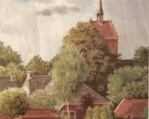 Kerk Anloo , pasteltekening K.J.Mulder.jpg